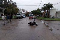 Choque entre moto y auto que involucra al periodista Juan Manuel Manassero