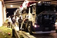 General Roca: Principio de incendio de un camión en autopista